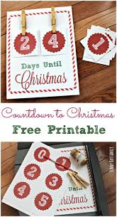 how many days until christmas free christmas countdown printable