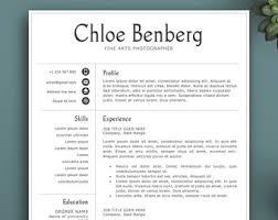 Editable Resume Template Teacher Resume Template Creative Resume Template