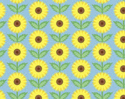 sunflower wrapping paper sunflower state etsy
