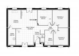 plan maison 3 chambres plain pied garage maisons chalet idéal modèles constructions