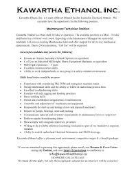 Salary Expectations On Resume Maintenance Technician U2013 Kawartha Ethanol Havelock Loyalist
