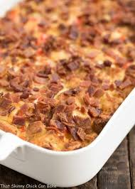 egg strata casserole easy bacon and egg strata that skinny chick can bake