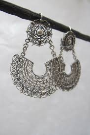 frida earrings filigree jewellery frida kahlo inspired silver filigree earrings