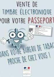 timbre bureau de tabac de timbre électronique pour votre passport