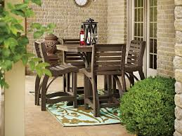Bar Height Patio Dining Set Outdoor Bar Height Patio Chairs Outdoor High Top Table Set 7
