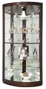 Corner Cabinet Black Black Corner Curio Cabinet With Light 6574