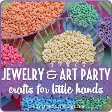 a thrifter in disguise jewelry u0026 art themed girls birthday party