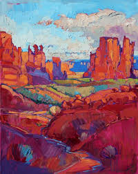 Impressionist Landscape Painting by Arches National Park Impressionist Landscape Painting By Artist
