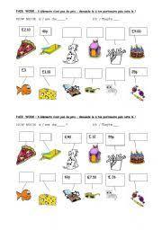 english teaching worksheets asking for prices