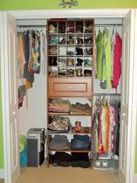 rustic reach in closet organizing idea roselawnlutheran
