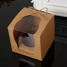 online buy wholesale brown kraft boxes from china brown kraft brown kraft paper cupcake box cake box with window wedding party favor box cake packaging
