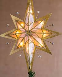 lighted tree topper pre lit bethlehem tree topper balsam hill