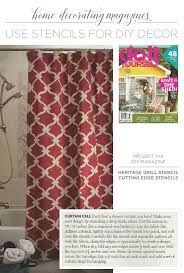 do it yourself magazine uses stencils for diy decor stencil stories
