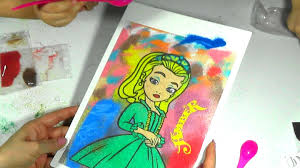 colored sand sand drawing for kids drawing for kids disney princesses amber