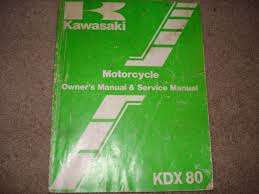 kawasaki 1987 kdx 80 owner u0027s manual and service manual u2022 17 00