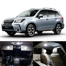 subaru forester 2018 colors 10 x xenon white led interior lights package kit for subaru
