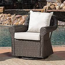 Swivel Rocking Chairs For Patio Amazon Com Hampton Bay Spring Haven Brown All Weather Wicker