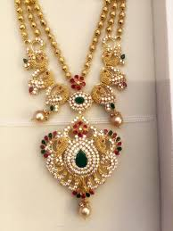 beautiful necklace gold images Beautiful gold necklace design south india jewels jpg