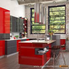op16 l25 modern red industrial style kitchen cabinet