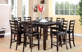 high dining room tables and chairs set with white black table dining room set seats 8 high table sets tables