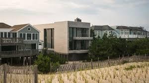 Modern Beach House by Making A Modern Beach House In The Aftermath Of Hurricane Sandy