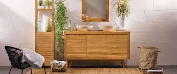 Teak Bathroom Storage Ano Modern Teak Bathroom Storage Column Miliboo