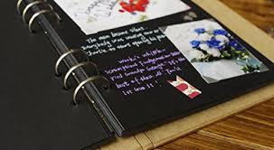 guest book with black pages blank kraft ring binding scrapbook diy photo album keepsake book
