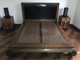 chinese bed frame rare opportunity to buy a solid elm wood antique