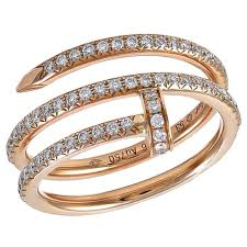 cartier design rings images Cartier juste un clou rose gold and diamond ring for sale at 1stdibs jpg