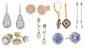 diamond stud sizes earrings diamond stud earrings womens bewitch women s pave