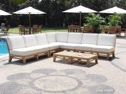 ramled a grade teak wood 7pc sectional sofa lounge set outdoor