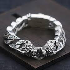 bracelet silver chain images Men 39 s sterling silver leopard curb chain bracelet jpg