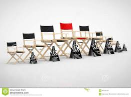 Director Style Chairs Cinema Industry Concept Director Chairs Movie Clappers And Meg