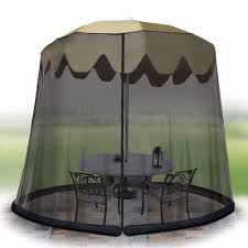 Patio Umbrella Net Walmart by Ideaworks Outdoor 7 5 Foot Umbrella Table Screen Black Walmart Com