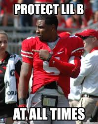 Braxton Miller Meme - force protect lil b at all times