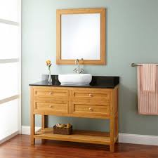 Shallow Depth Bathroom Vanity by Narrow Bathroom With Absolute Black Granite Counter Top And