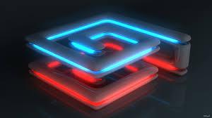 full hd wallpaper labirint neon light glossy surface desktop