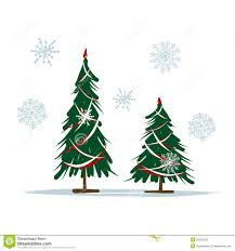 big and small christmas trees for your design royalty free stock