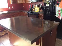 countertops concrete kitchen island regarding finest countertop