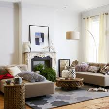 2 Sofas In Living Room by Tillary 2 Sofa Sectional Tufted West Elm