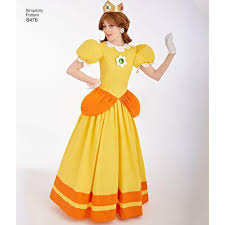 sewing pattern misses super mario princesses costumes