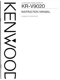 kenwood stereo receiver kr v9020 user guide manualsonline com