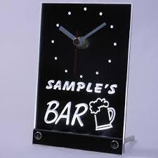 tncpv tm beer mug bar personalized pub decor neon led table clock tncpv tm beer mug bar personalized pub decor