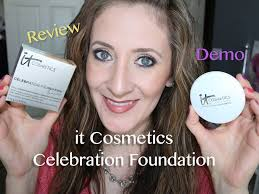 it cosmetics celebration foundation light it cosmetics celebration foundation review demo youtube