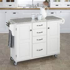 shop kitchen islands carts at lowes com home styles white scandinavian kitchen cart