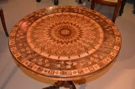 furniture stenciled old orange oak table stenciled old brown oak