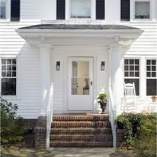 Larson Secure Elegance by A White Storm Door On A White House Gives You A Clean And Classic