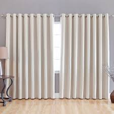 Steel Grey Curtains White Curtains On Stainless Steel Hook Connected By Beige Wooden