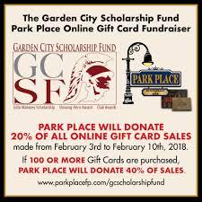 gift card fundraiser park place restaurant hosting online gift card fundraiser for gcsf