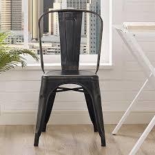 Vintage Metal Dining Chairs Set Of 2 Modern Retro Vintage Industrial Distressed Metal Dining